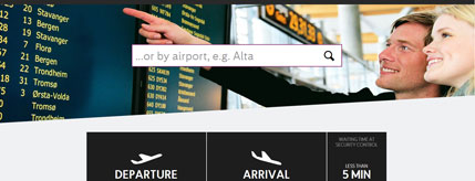 Official website Airport Oslo
